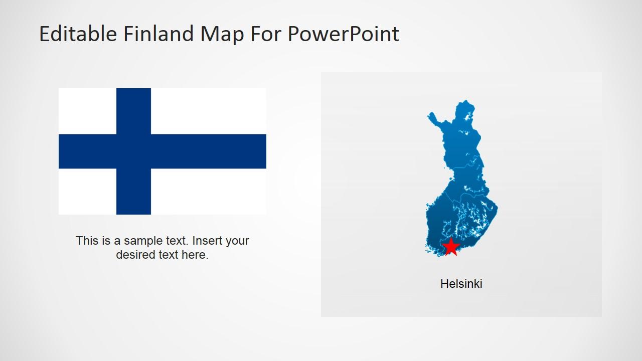Finland Flag Design for PowerPoint & Helsinki City