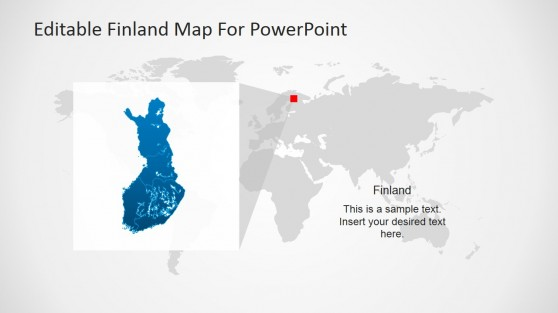 Finland Map Template Design for PowerPoint