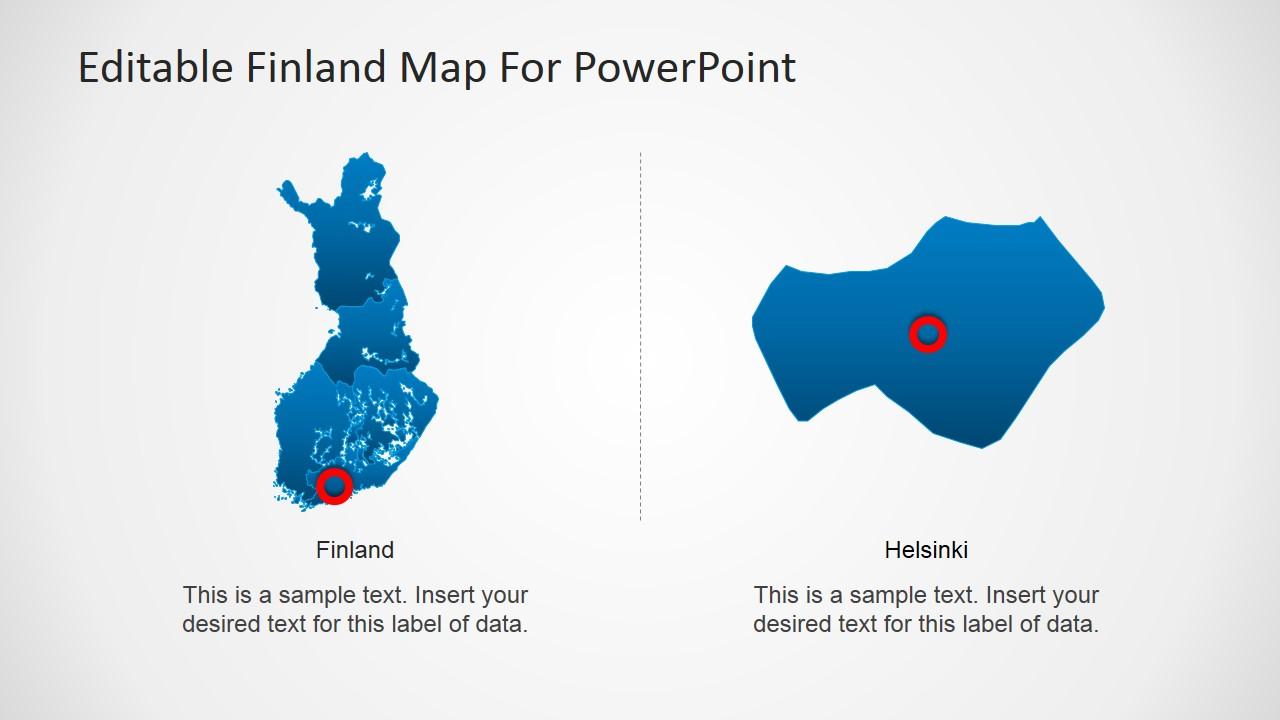 Finland Map & Helsinki Map Slide Design