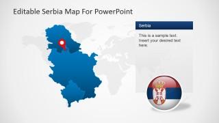 GPS Map of Serbia, Vojvodina and Kosovo Icons