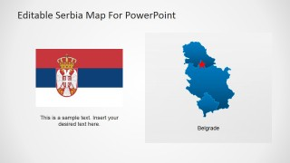 Flat Serbian Map and Flag Diagram Clipart