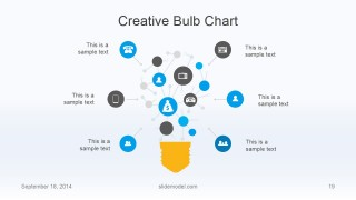 Flat Business Creative Light Bulb Chart for PowerPoint
