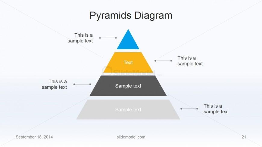 Flat Business Pyramid Slide Design 4 Levels