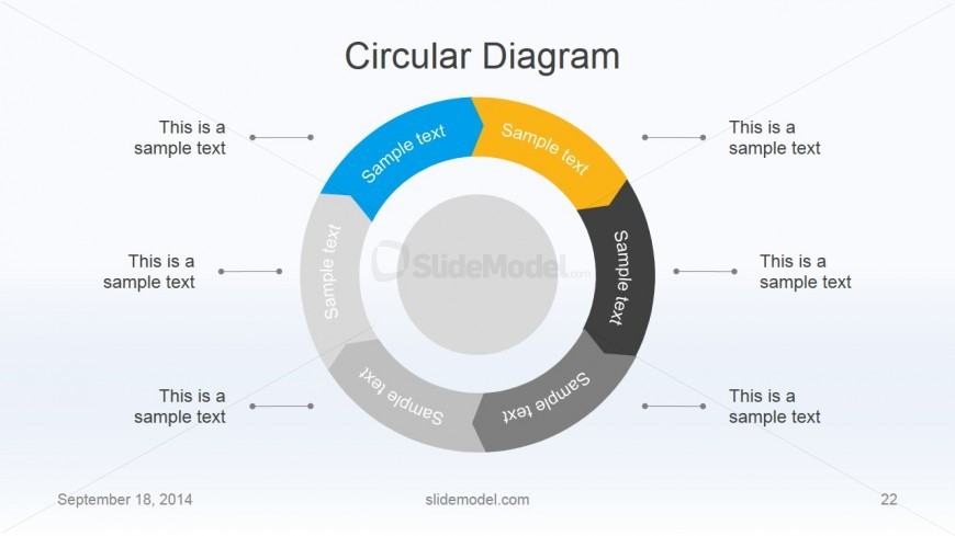 Flat Business Circular Diagram Design for PowerPoint