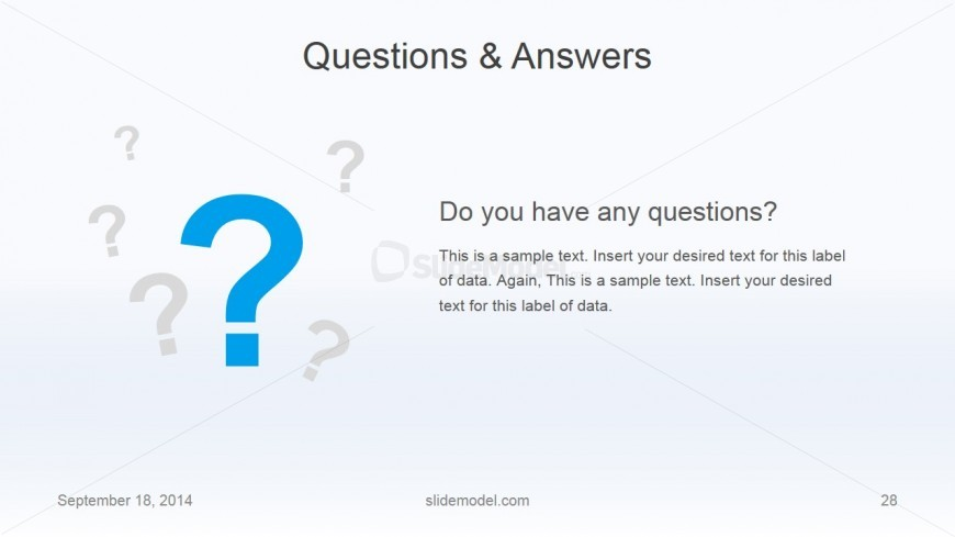 Flat business questions answers slide design slidemodel for Powerpoint questions and answers template