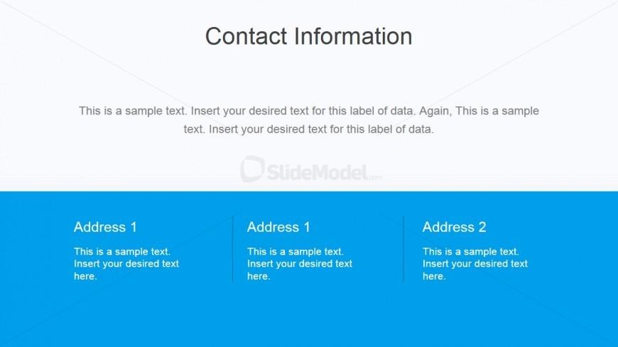 Flat Business Contact Slide Design