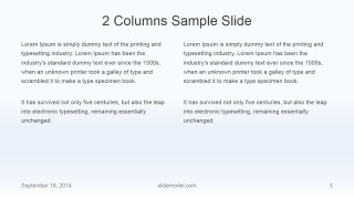 Flat Business 2 Columns Slide Design