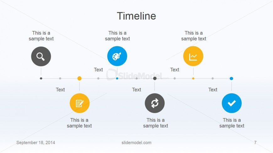 Flat Business Timeline Template Design SlideModel - Business timeline template