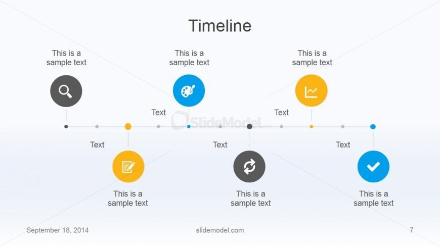 Flat Business Timeline Template Design SlideModel