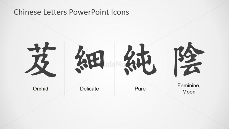 Editable Chinese Symbol Template