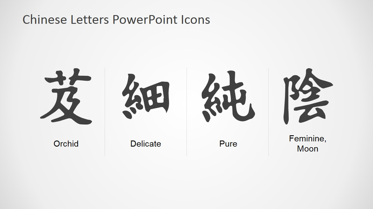 chinese symbols powerpoint icons slidemodel