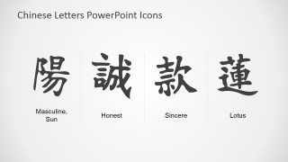 Editable Chinese Icon PowerPoint Template
