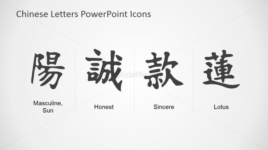Chinese Icon PowerPoint Slide - SlideModel
