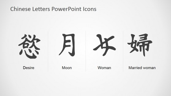 Chinese Symbol List Presentation Slide