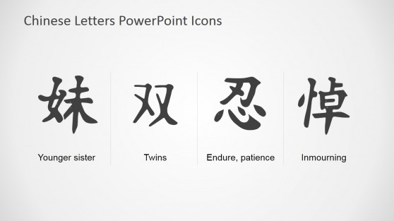 Chinese Symbols and Meanings PowerPoint Template
