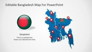 PowerPoint Map of Peoples Republic of Bangladesh