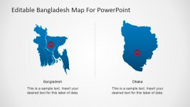 Dhaka Capital City In Bangladesh PowerPoint Map