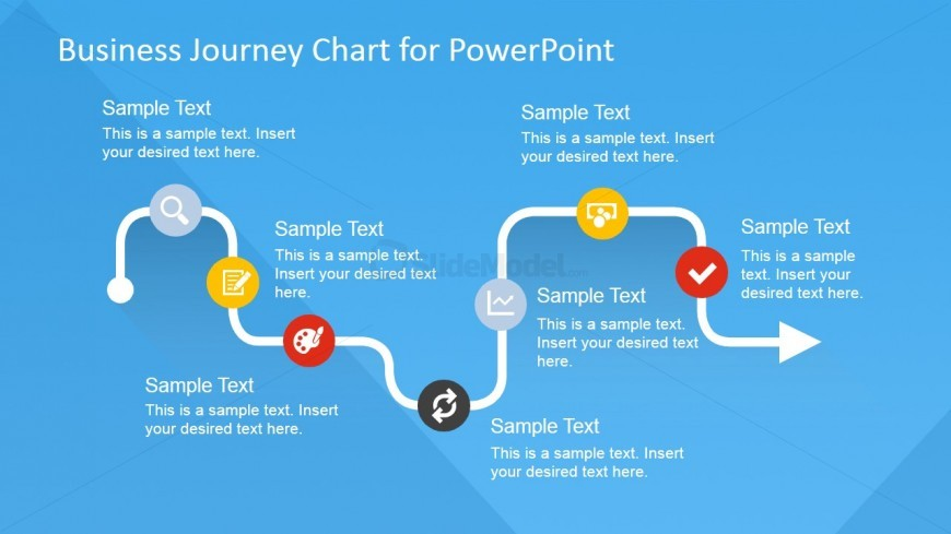 Flat Business Journey Chart Text Placeholder