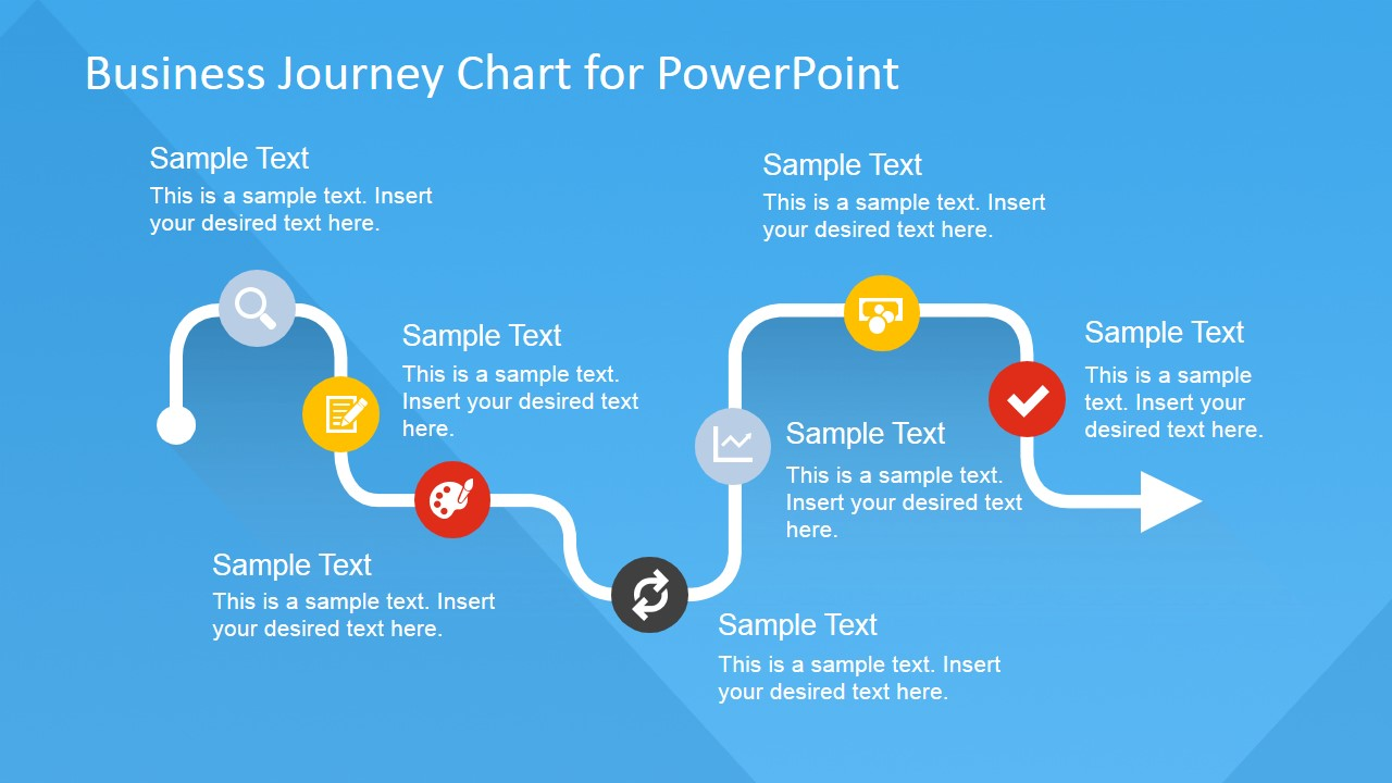 Flat business journey chart powerpoint template slidemodel flat business journey chart powerpoint template wajeb Images