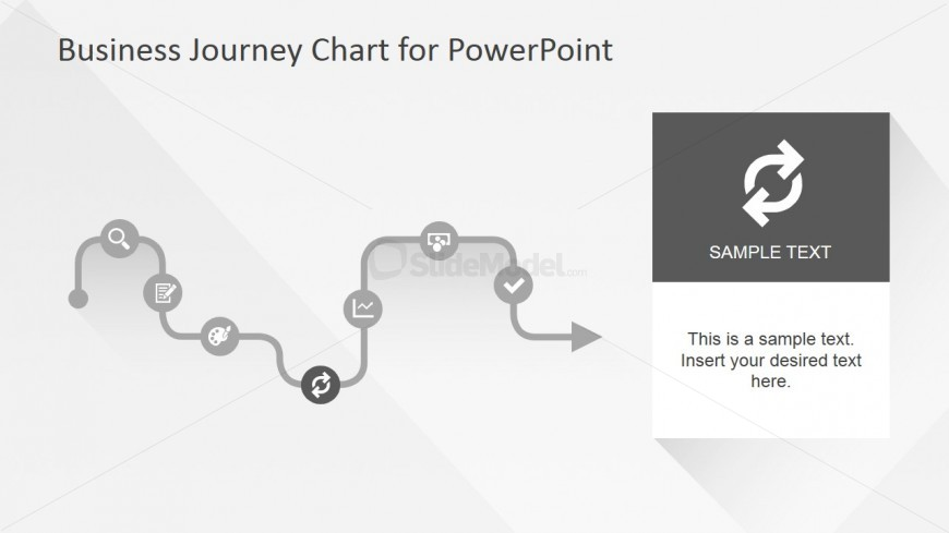 Flat Business Journey Chart Reload Slide