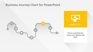 Flat Business Journey Chart E-Commerce Slide
