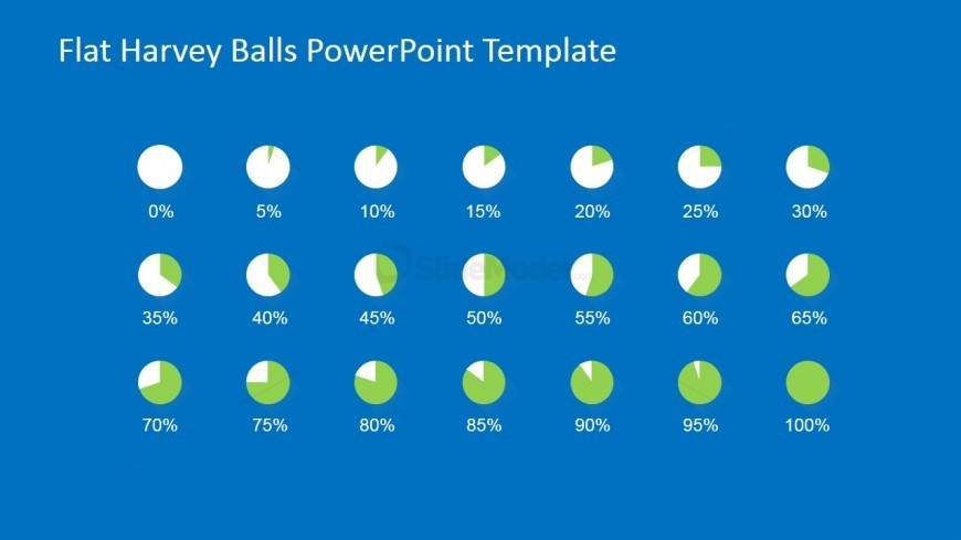 Flat Harvey Balls for PowerPoint