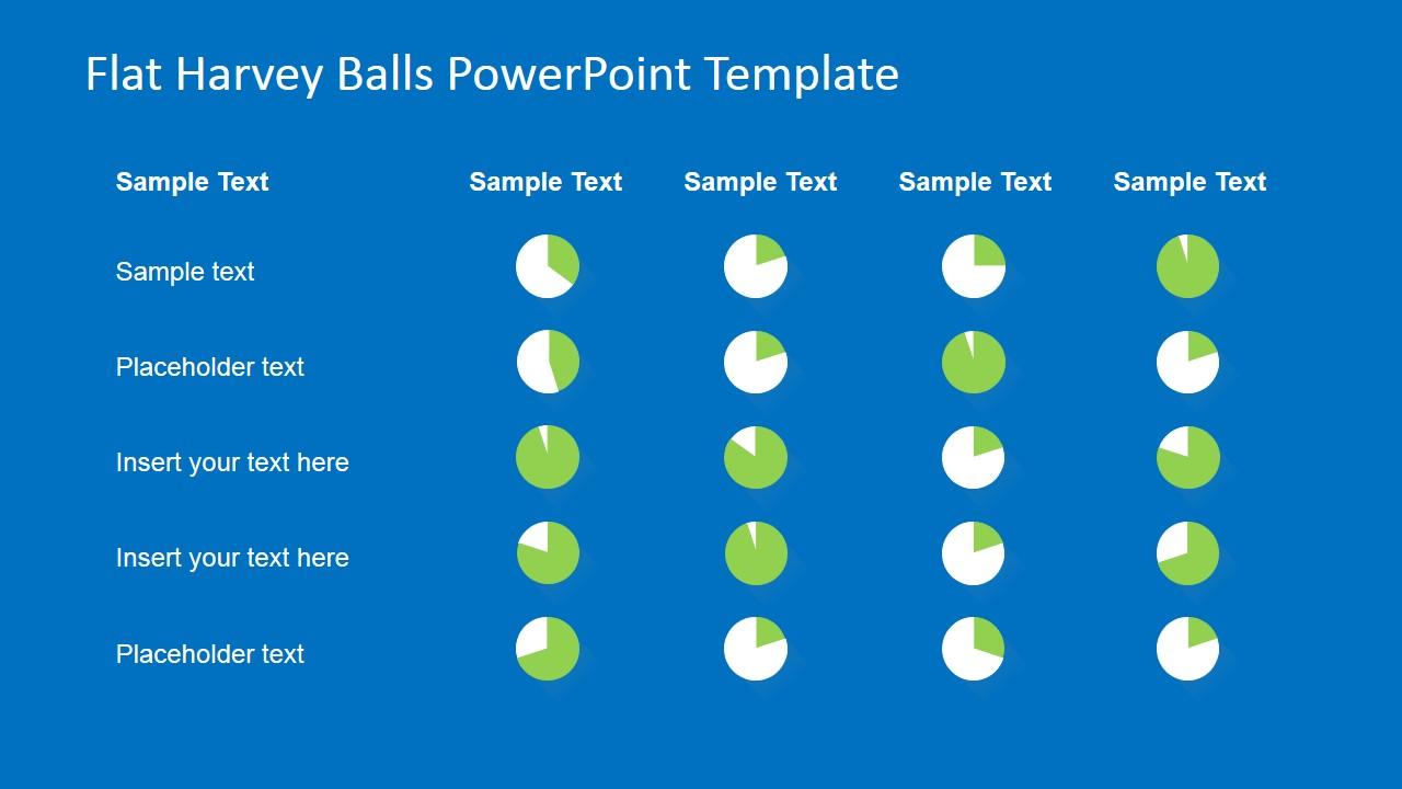 Harvey Ball Chart - Comparison Slide Design for PowerPoint