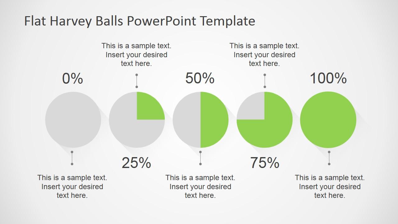 flat harvey ball powerpoint template   slidemodel