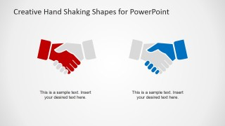 Making a Deal Handshaking Clipart Shapes