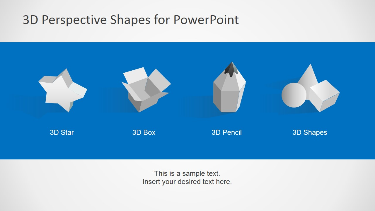 3D Perspective Icons for PowerPoint with Grey Gradient