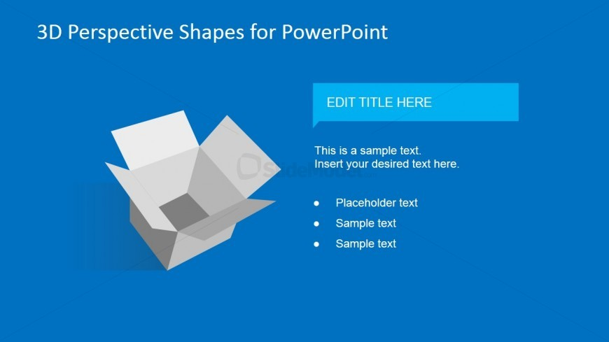 3D Shipping Box Clipart for PowerPoint