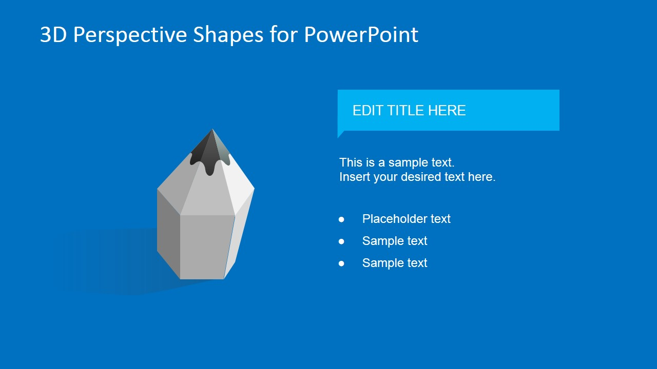 3D Pencil Clipart for PowerPoint