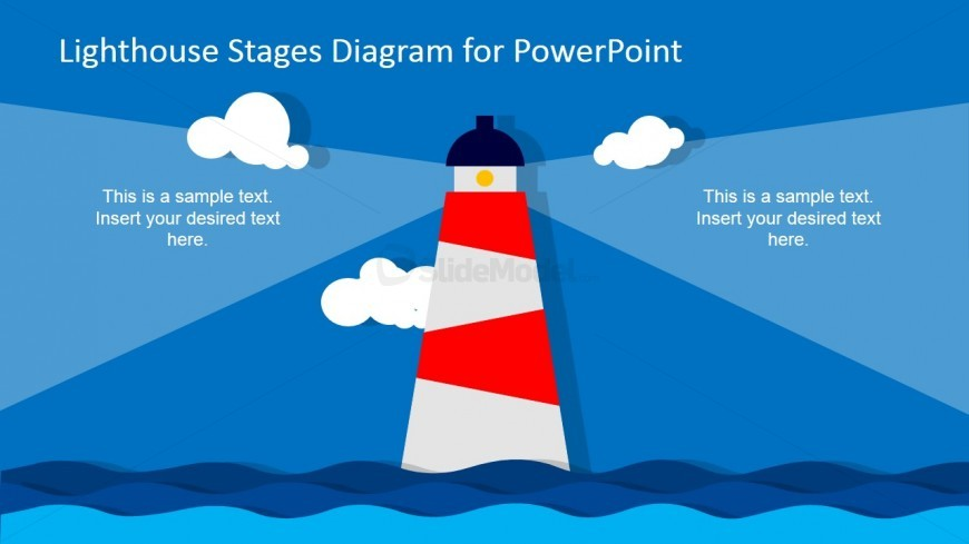 Lighthouse Stages Diagram for PowerPoint