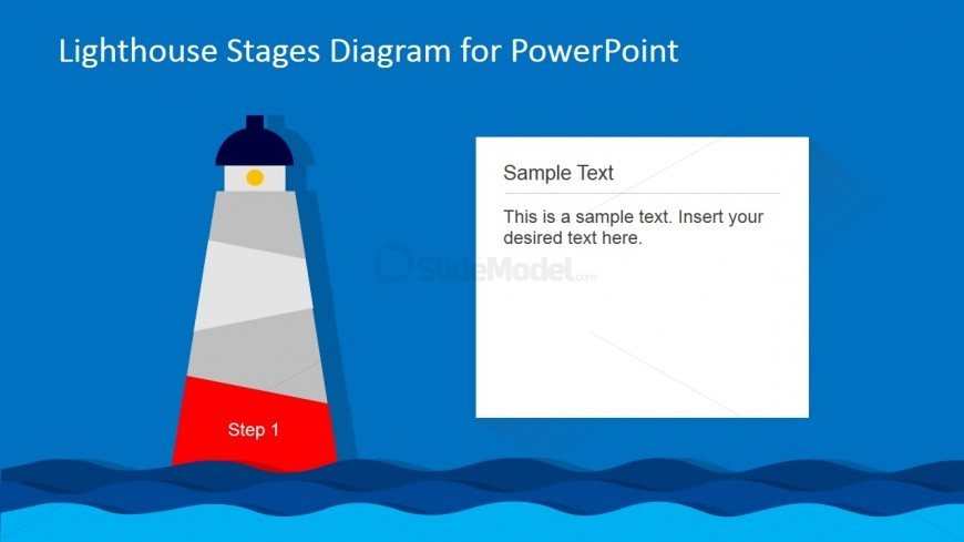 Lighthouse PowerPoint Diagram 1st Level