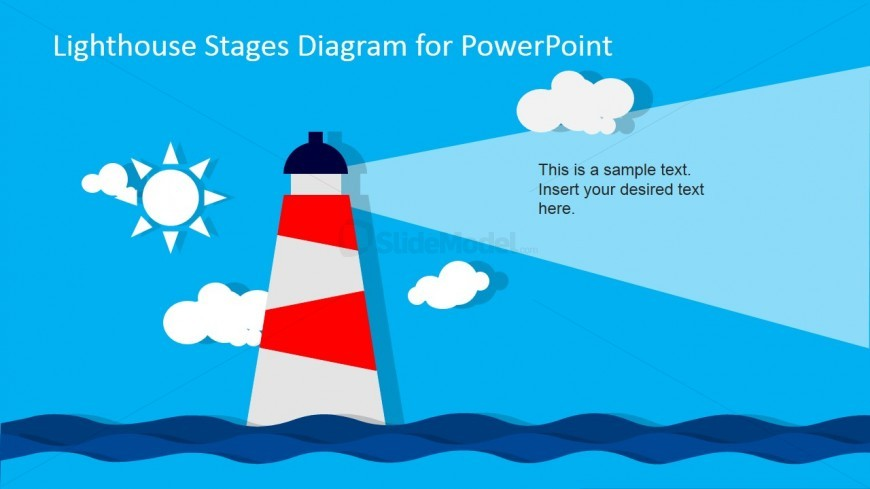 Lighthouse Shiny Day PowerPoint Slide Design