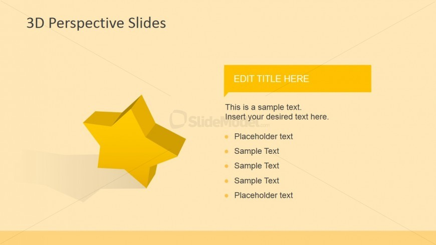 3D Star Icons for PowerPoint