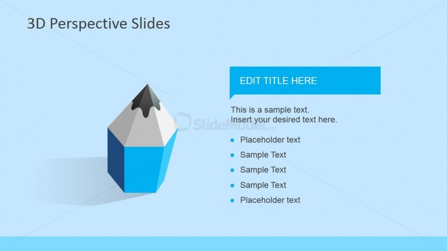 3D Pencil Shapes for PowerPoint