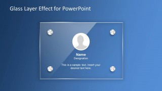 Glass Effect Profile Slide Design