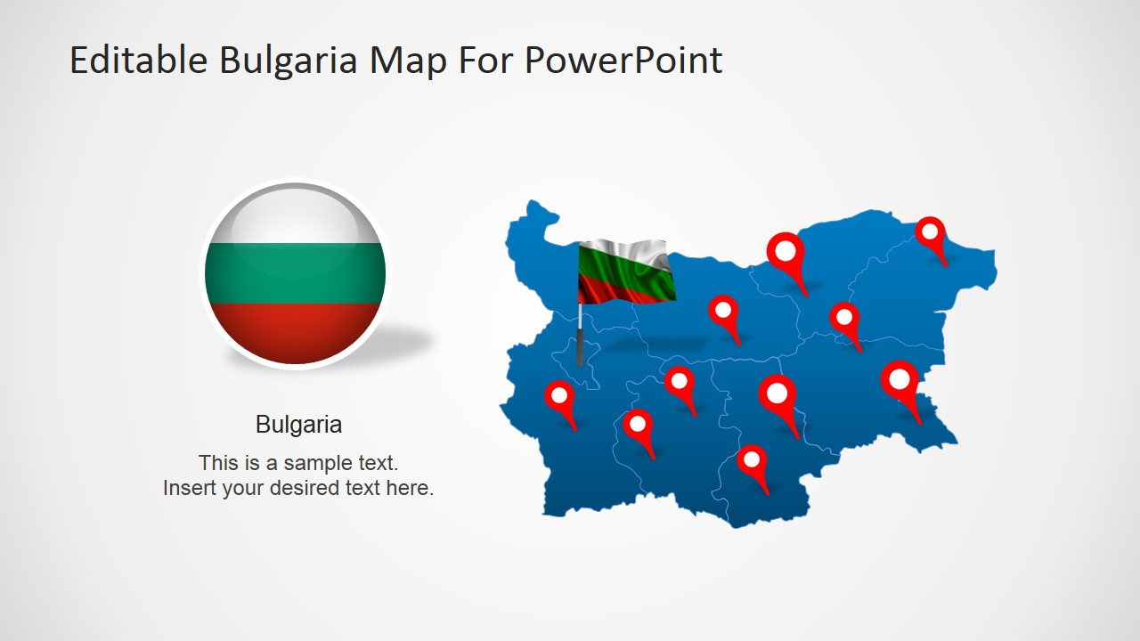 Bulgaria Map Outline PowerPoint Template