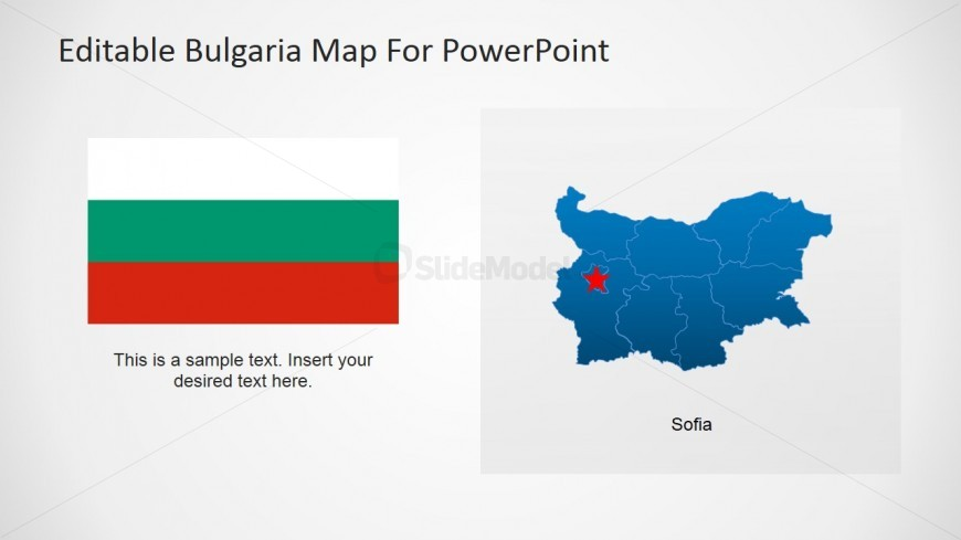 Bulgaria Map PowerPoint Template