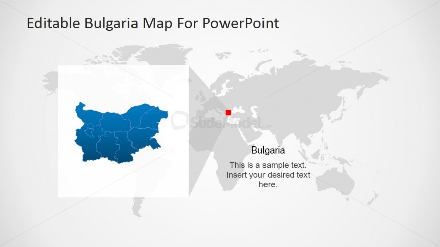 World Map and Bulgaria PowerPoint Slide