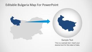Editable Map PowerPoint Slide