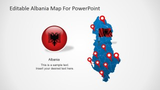 PowerPoint Design for Map of Albania