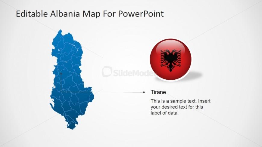 Albanian Regions PowerPoint Template