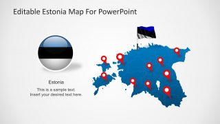 Editable Estonia Map for PowerPoint