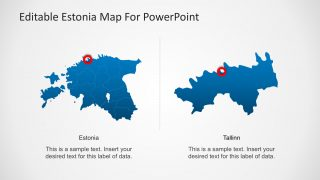 Estonia Editable PowerPoint Map with Capital City Marker