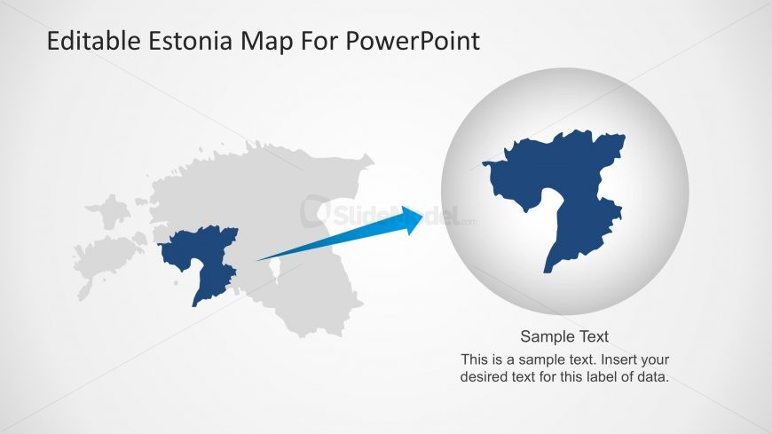 State Marked in PPT Map of Estonia