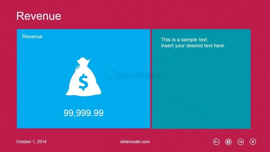Revenue Slide Design Metro UI for PowerPoint