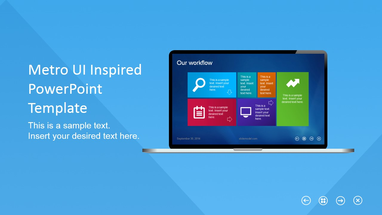 metro flat business template for powerpoint