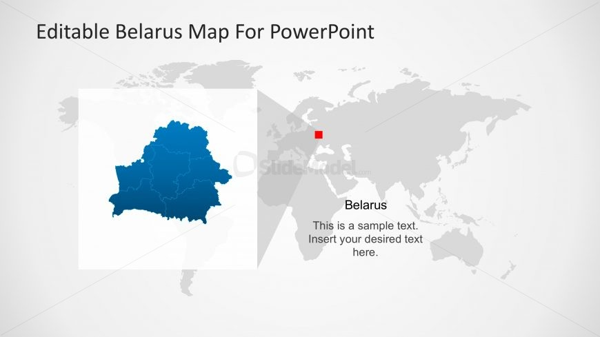 Belarus Highlight In Worldmap For Powerpoint Slidemodel